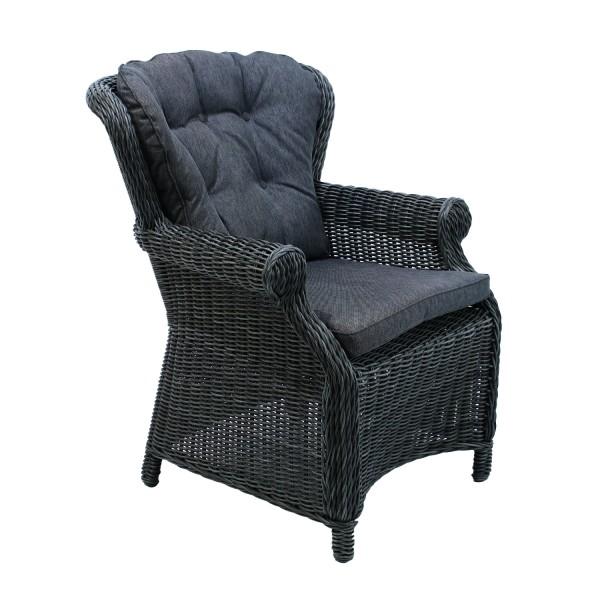 AKS Dining Chair Broadway 77x83x96 cm Geflecht anthrazit
