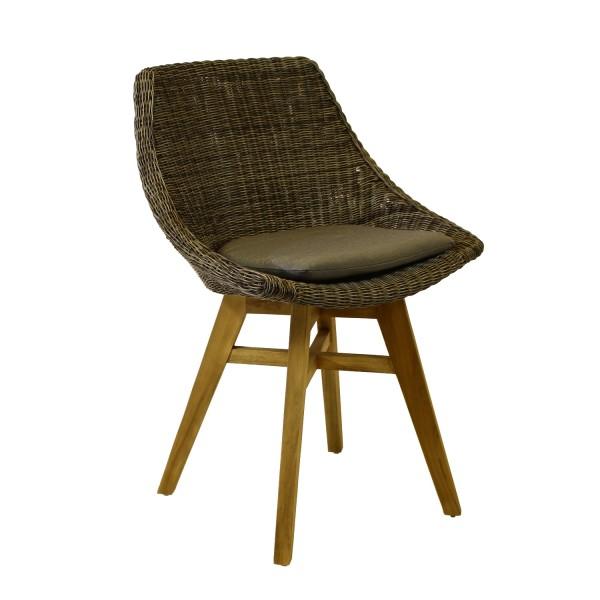 AKS Boa Vista Stuhl Polyrattan/Kunstoffgeflecht basalt
