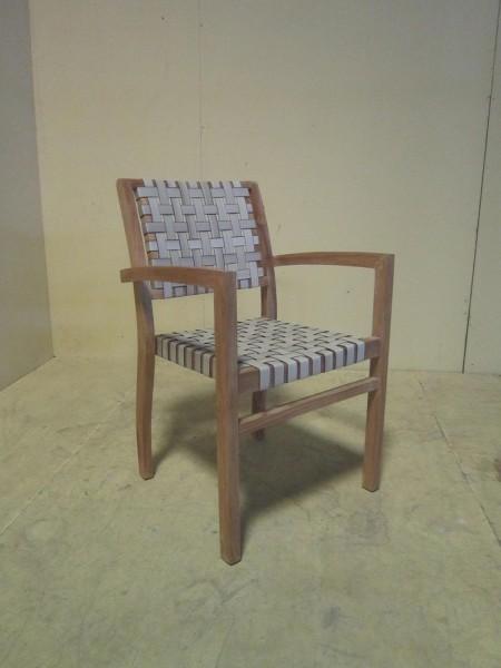AKS Sao Paulo Sessel 56x55x85 cm Geflecht weiß