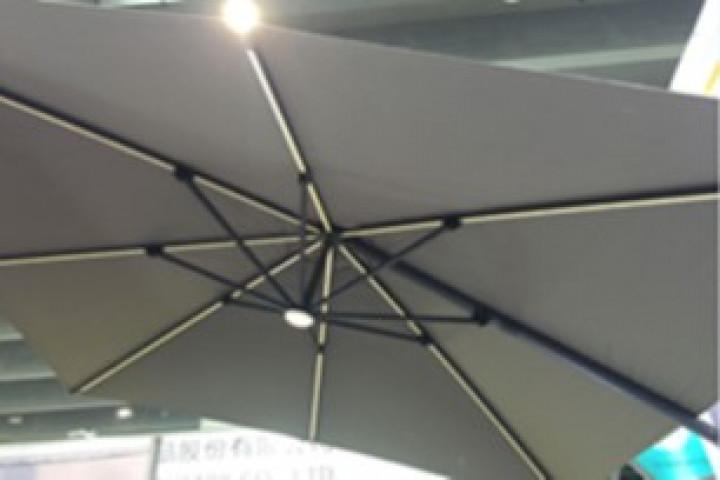AKS Ampelschirm Olifen dunkelgrau, 300x300 cm