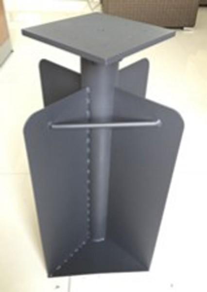 AKS Bodenhülse 28x28x60 cm anthrazit