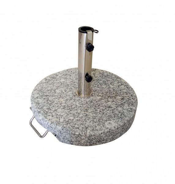 AKS Schirmständer Granit 30 kg, rund mit Griff, grau
