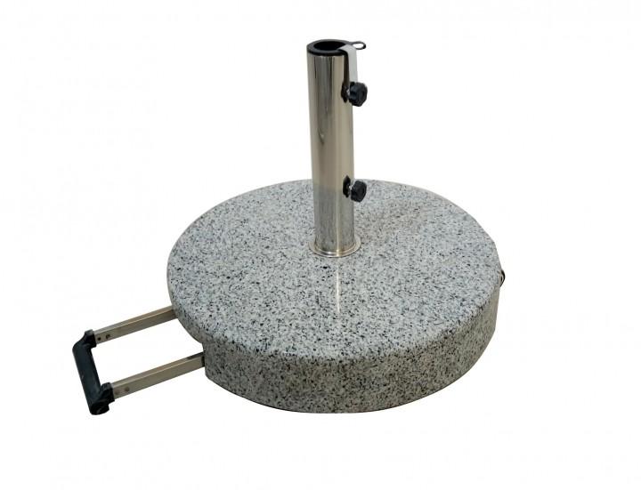 AKS Schirmständer Granit 60 kg rund mit Griff, grau