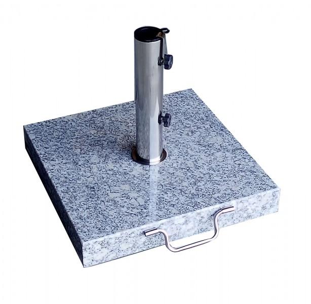 AKS Schirmständer Granit 30 kg, eckig mit Griff, grau