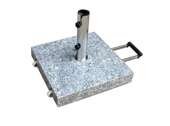 AKS Schirmständer Granit 60 kg, eckig mit Griff, grau
