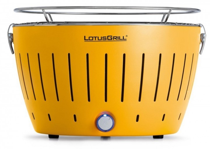 LotusGrill Holzkohlegrill inkl. Tasche 32 cm maisgelb