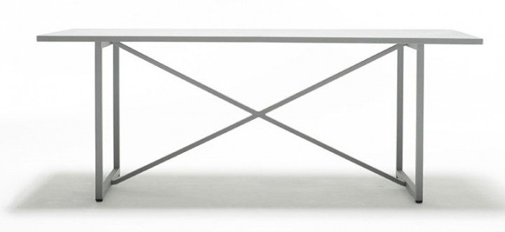 Solpuri X-Series Tisch Edelsahl Keramik zement, anthrazit