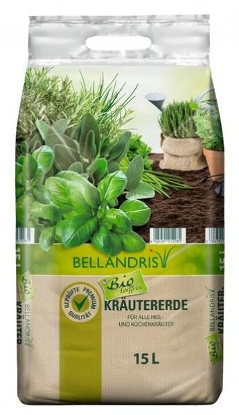 BELLANDRIS Bio Kräuter- und Anzuchterde 15 l mit Tragegriff