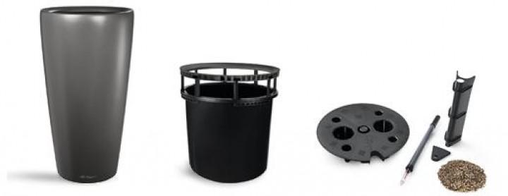 Lechuza RONDO 40 Premium AIS mit Griffeinsatz, anthrazit