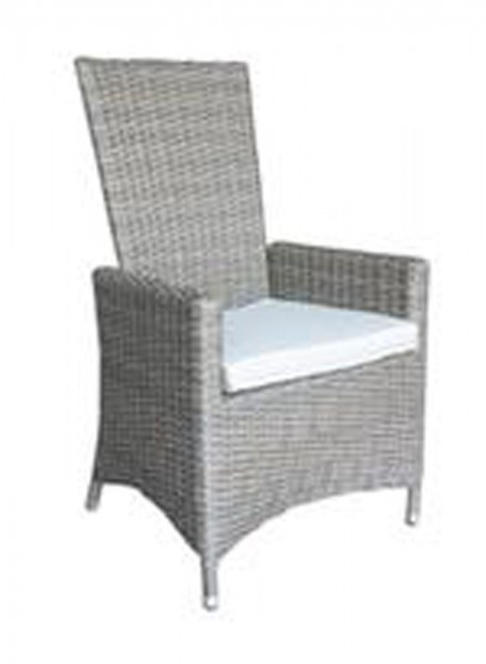 AKS San Diego Diningsessel Move Polyrattan/Kunstoffgeflecht grey willow