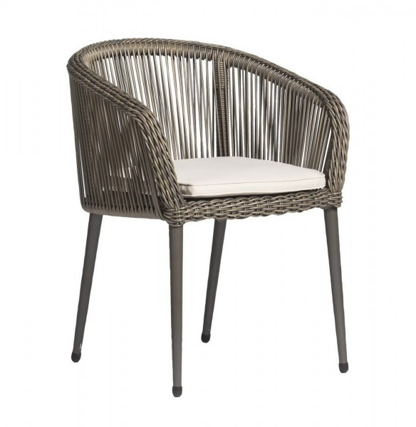 AKS Rossi Diningsessel Polyrattan/Kunstoffgeflecht charcoal