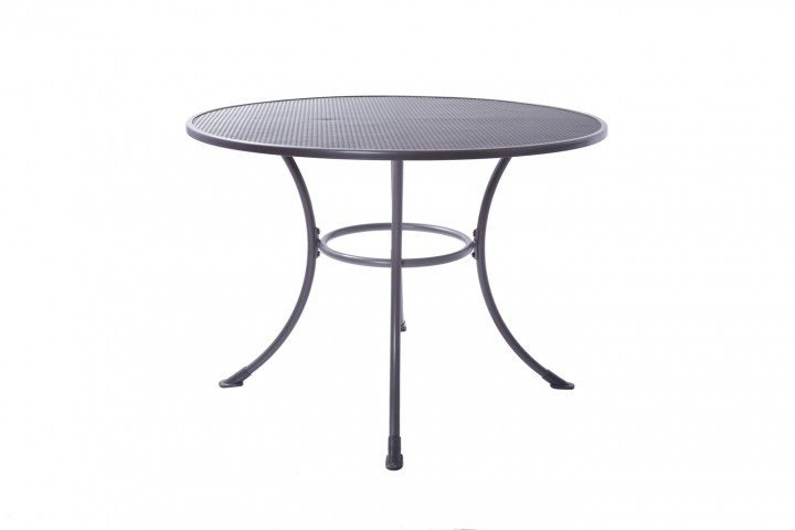 AKS Basic Tisch Standard rund Stahl 90x72 cm grau