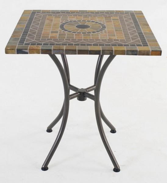 AKS Korsika Mosaiktisch 70x70x75 cm grau/schwarz/beige