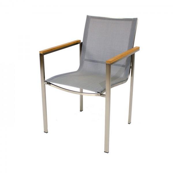 AKS Colchester Sessel silber schwarz