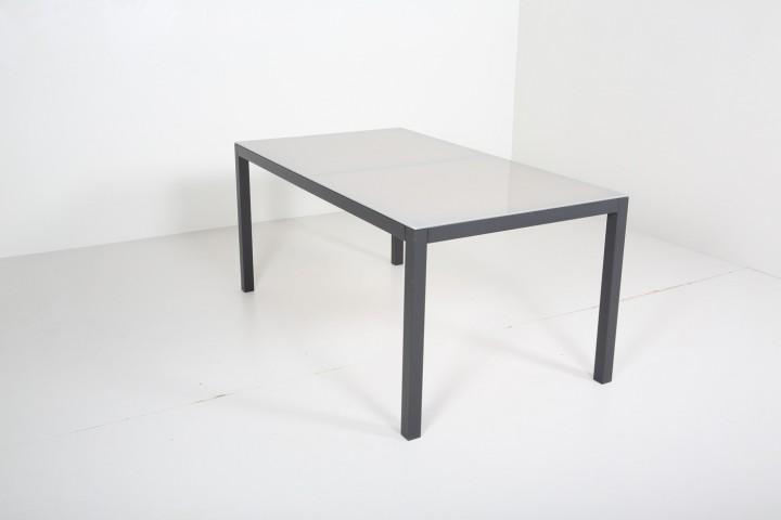 AKS Sardinien Tisch Alu 160x90x75 cm schwarz