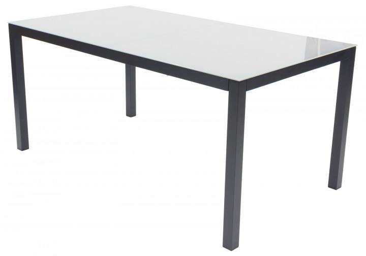 AKS Sardinien Diningtisch Aluminium schwarz, 160x90 cm