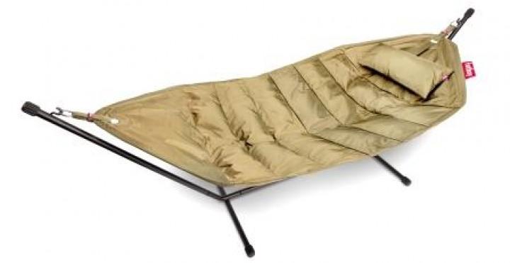 FATBOY Hängematte headdemock 330x127x110 cm schwarz Auflage sand