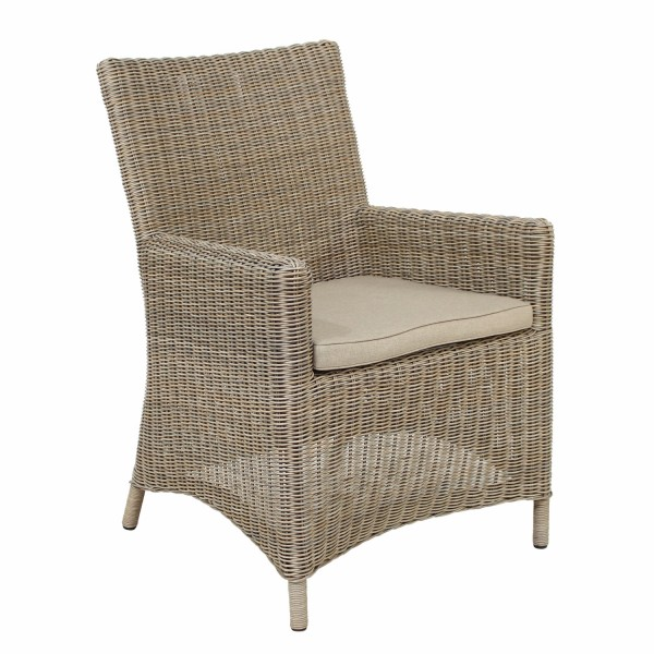 AKS Chicago Sessel Geflecht beige, natur