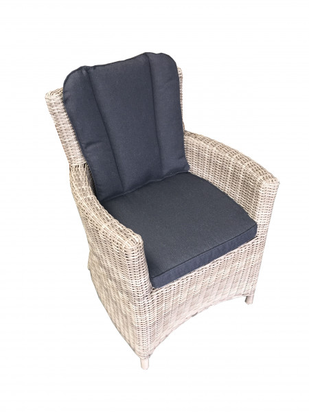 AKS Rantum XL Loungesessel Polyrattan/Kunstoffgeflecht grey seagrass, full round wicker