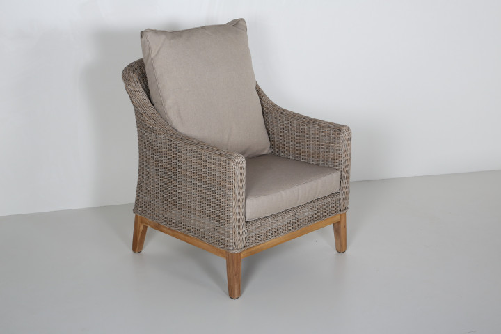 AKS Key West Diningsessel Polyrattan/Kunstoffgeflecht nature willow