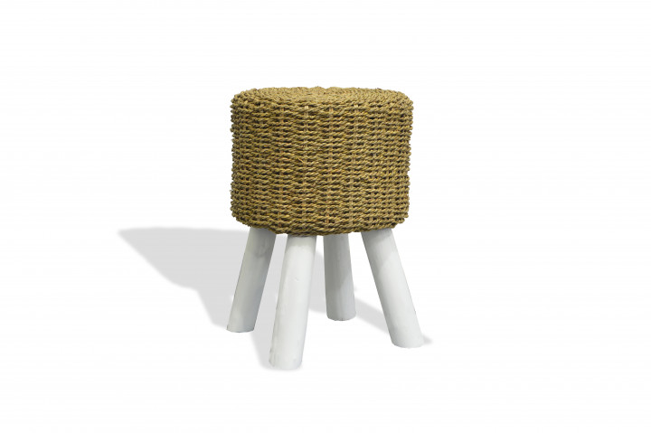 AKS Hocker Polyrattan/Kunstoffgeflecht honey