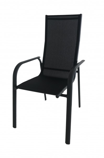 AKS Sirius Stapelsessel Alu-Textilen, schwarz