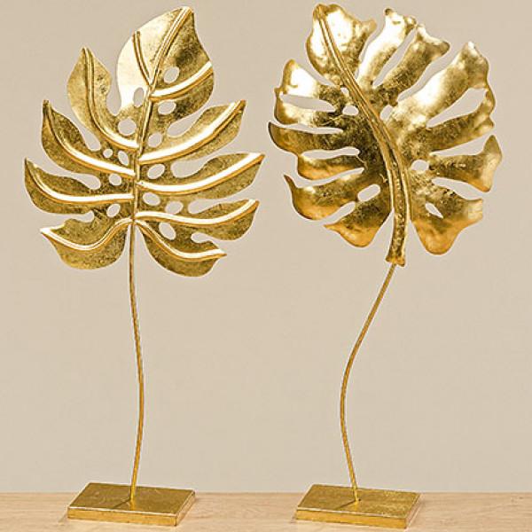 Objekt Golan 2fach sort. 68 cm Eisen gold