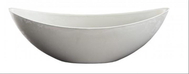 Kunststoffschale oval 34x11x11 cm grau/weiß
