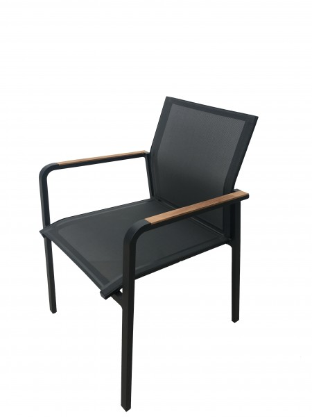 AKS Sarina Sessel Alu-Textilen, schwarz