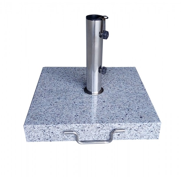 AKS Schirmständer Granit 40 kg eckig, grau