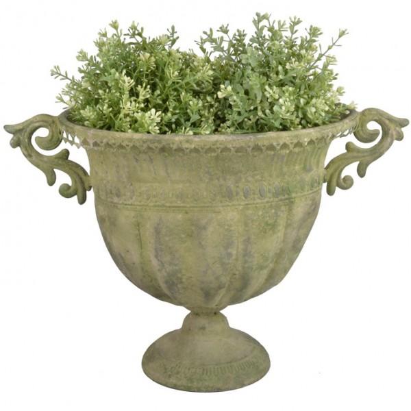 Pflanzkübel Pokal 45x30x32 cm Metall grün