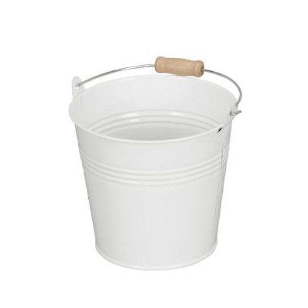 Eimer Metall 13x12 cm weiß wasserdicht