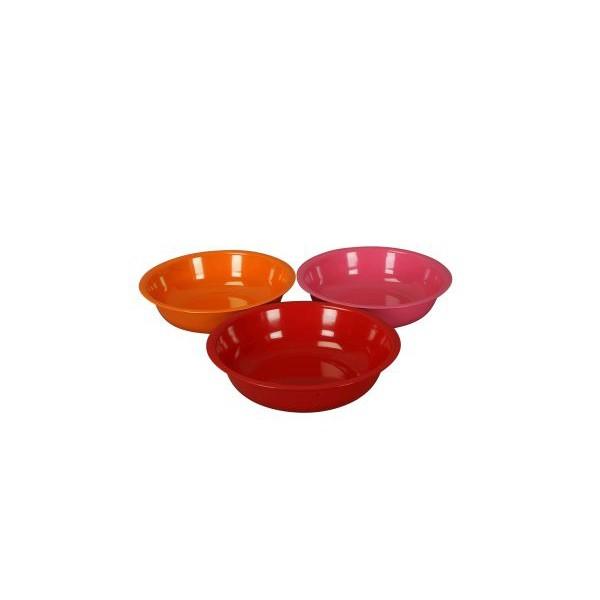 Schale Metall 35x9,5 cm orange-rot-pink