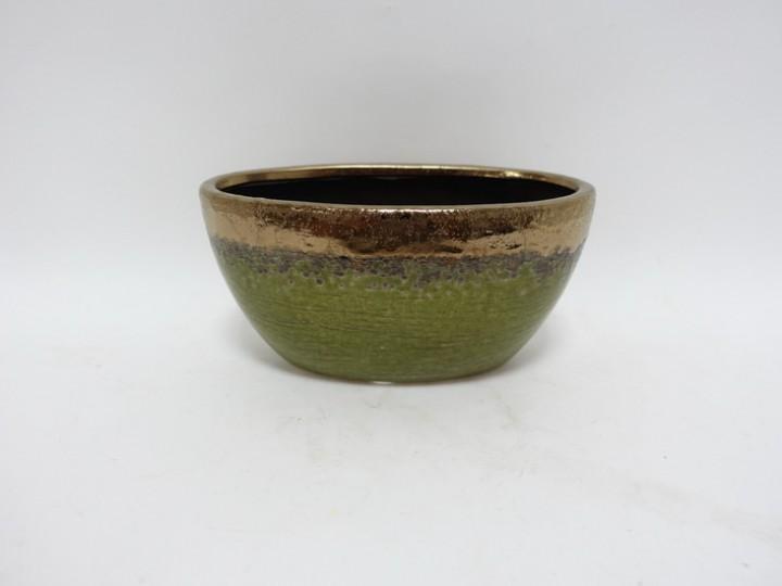 Jardiniere 20,5x10x10,5 cm grün-bronze