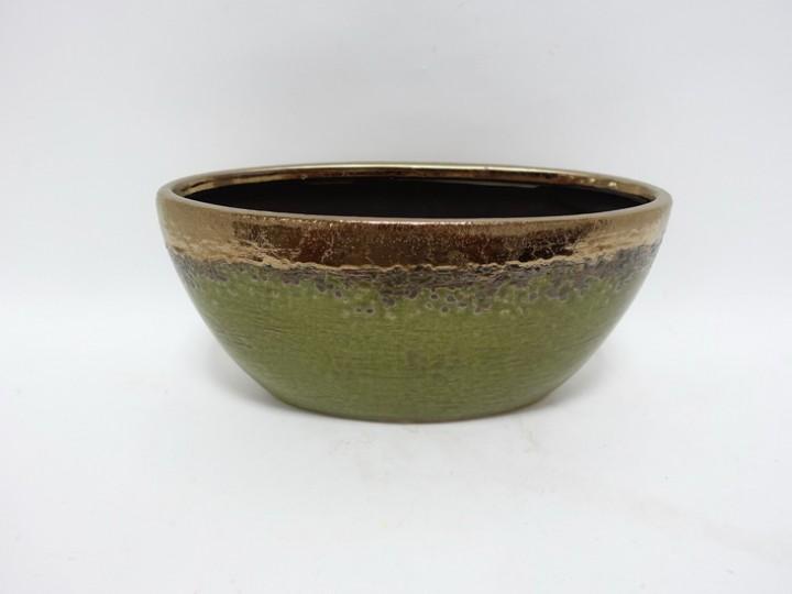 Jardiniere 29x11,5x13,5 cm grün-bronze