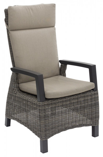 AKS Benedetto Diningsessel Move Polyrattan/Kunstoffgeflecht charcoal