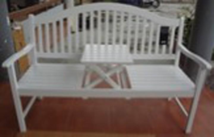 AKS Monza Bank Akazie 150x65 cm weiß