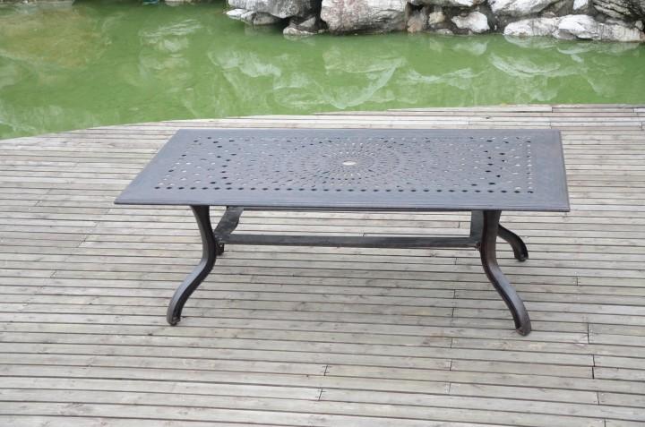 AKS Sheffield Tisch Aluguß 211,5x111x73 cm bronze