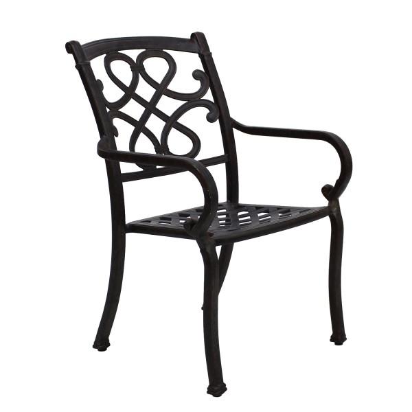 AKS Sheffield Sessel Aluguß, bronze
