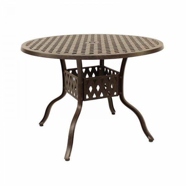 AKS Leets Tisch Aluguß 105x73 cm bronze
