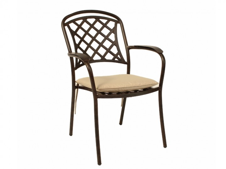 AKS Leeds Sessel, Aluguß, 46x44x90 cm, bronze