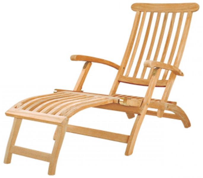 AKS Brighton Deckchair Teakholz natur