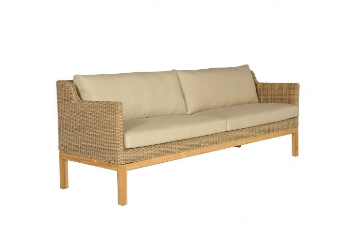 AKS Darwin 3er Sofa Geflecht, nature pine