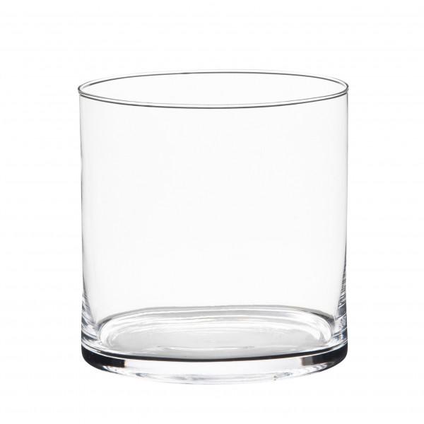 Vase Glas Zylinder 19x19 cm klar