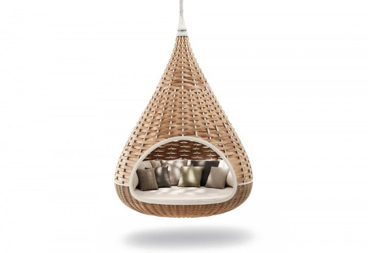 Dedon Nestrest Hanging Lounger Geflecht 200x268x80 cm natural