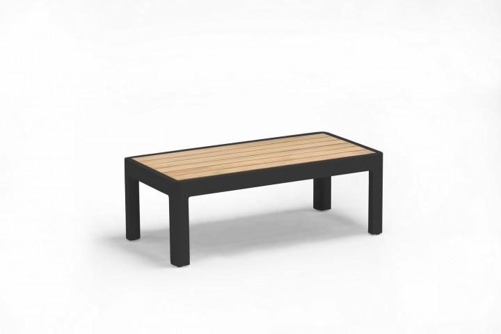 AKS Pearl Tisch, Alu/Teak, schwarz 37,5x75x27,5 cm