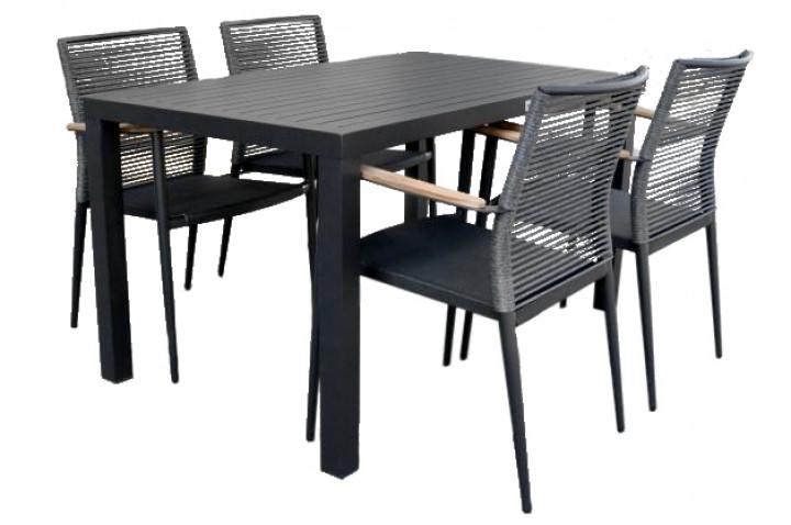 AKS Victoria Dininggruppe Aluminium schwarz
