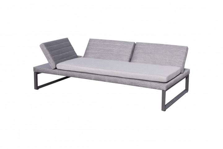 AKS Prato Loungesofa Aluminium schwarz
