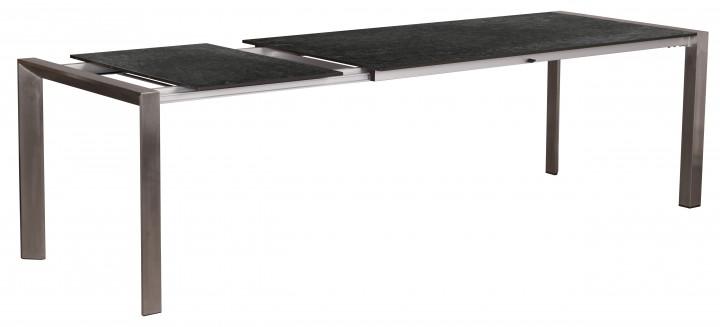AKS Ballina Ausziehtisch Edelstahl, HPL 180/240x90 cm patina rock