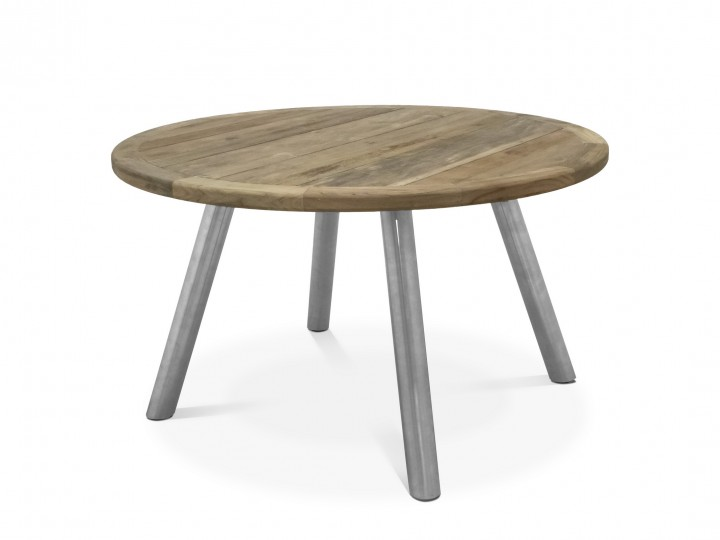 AKS Dias Tisch Edelstahl, Teakplatte natur, 150cm